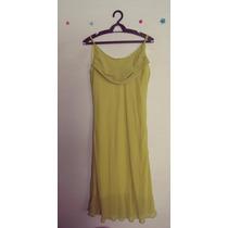 Vestido Verde Forrado Gola Boba Alcas Cód. 249