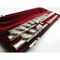 Flauta Transversal Yamaha Yfl-311 Bocal Prata Maciça Linda!!