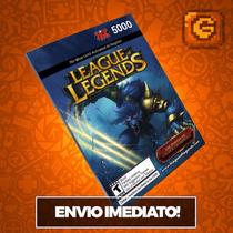 League Of Legends Lol - Cartão 5000 Riot Points Rp Br Brasil