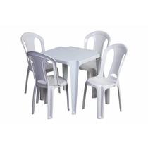 Conjunto De Mesas E Cadeiras De Plástico Tramontina P/ 182 K