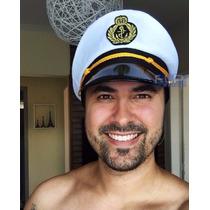 Busca Chapéu Quepe Capitão Marinheiro Marinha Fantasia Festa Boina ... dfc7126944e