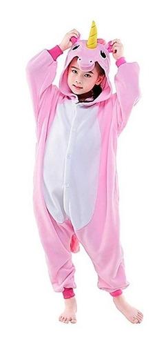 bcbd42b37ccb18 Pijama Kigurumi Unicórnio Infantil Rosa E Branco 2 A 16 Anos à venda ...
