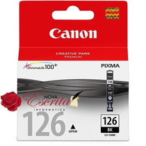 Cartucho Tinta Canon 126 Preto Cli-126 Bk Original Ix6510