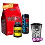 Testosterona C/ Metildrol + Whey + Bcaa + Shaker - Morango