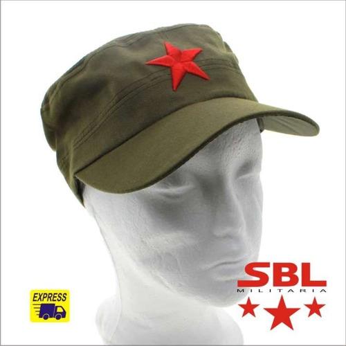 Boné Militar Verde Oliva Com Estrela Vermelha Russia China. Preço  R  64 9  Veja MercadoLibre 5c4c228d020