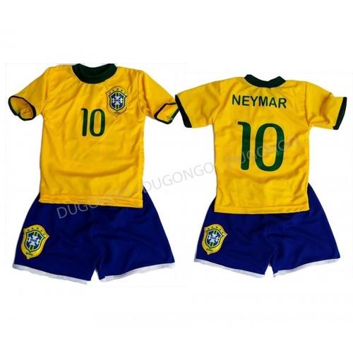 Conjunto Infantil Brasil Neymar Camisa10 Futebol Uniforme !! 6e8c085826d16