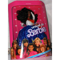 Boneca Barbie Unicef United States Committee For 1989 Negra