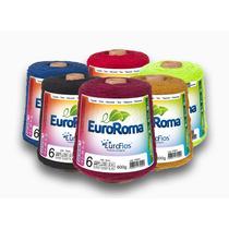 Kit 5unidades Barbantes Euroroma Colorido Fio 6 E Fio8- 600g