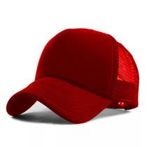 Busca Boné Trucker De Redinha Vermelho Liso Telinha com os melhores ... 8e6236a6a74