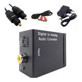 Kit Conversor Óptico  Digital Toslink+ Cabo Óptico +cabo Rca