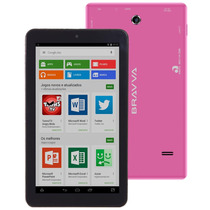 Tablet Bravva Bv Quad 7, 8 Gb, 5.0 Lollipop, Gps - Rosa