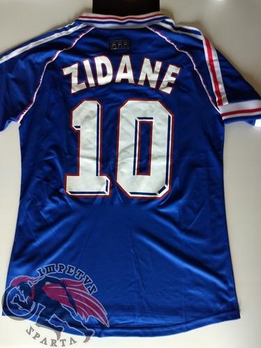 Camisa Retrô França Copa De 1998 Zidane G. R  250 beb603706c407