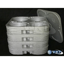 Bandejas Marmitex Isopor N:8 E N:9: Kit 4-bandejas +1 Tampa