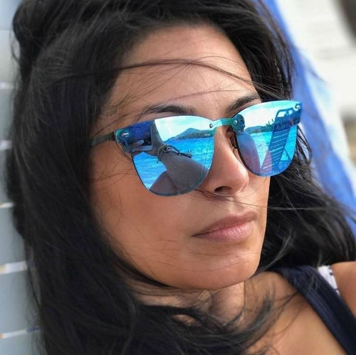 Óculos De Sol Escuro Espelhado Feminino Unissex 2018 Modinha c152f14c02