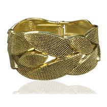 Pulseira Bracelete Largo Dourado