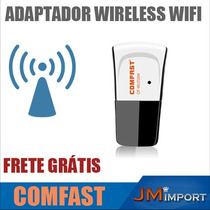 Adaptador Wireless Wifi Pc Notebook Receptores Frete Gratis
