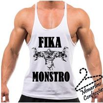 Camiseta Regata Tank Top Super Cavada Fik Monstro Exclusiva
