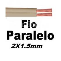 Fio Paralelo Marrom 2 Vias !! 1,5mm C/100 Extençao Eletrica