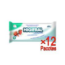 Toalha Umedecida Higifral Com 40 Un. - 12 Pacotes