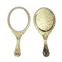 Espelho De Mão Princesas - Kit Maquiagem Vintage Provençal