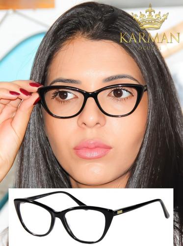05ef1229e4bc1 Armação Óculos Para Grau Feminino Gatinho Fendi Acetato