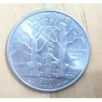 Moeda Eua Quarter Dollar Vermont Por Apenas R$4,00