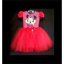 Vestido Infantil Festa Minnie Bailariana Fantasia