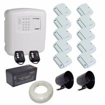 Kit Alarme Ecp 10 Sensores Porta Janela Sem Fio E Discadora