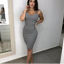 42cc460d60 Busca Vestido cinza justo com os melhores preços do Brasil ...