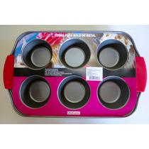 Forma Metal Antiaderente Cupcake Minibolo C/6 - Casa Amora
