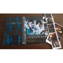 Caderno Supernatural De Anotações Com Adesivos