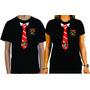 Camiseta Harry Potter Grifinória Uniforme Traje Preta