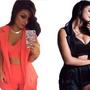 Conjunto Blazer Short Cropped Roupa Feminina Blogue Barato