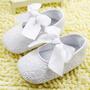 Sapatinho Bebe Branco Com Laço Em Algodão-feminino