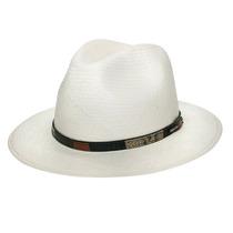 Chapéu Panamá Clássico Aba Longa Unissex - Marfim-tam 59