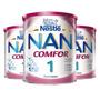 Kit: 3 Leite Em Po Nan Comfort 1 Formula Infantil 800g