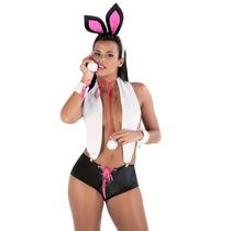Fantasia Feminina Kit Coelha Playboy Sexy - Frete Barato !