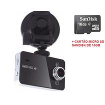 Câmera Filmadora Veicular Hd Dvr Visão Noturna + Cartão 16gb