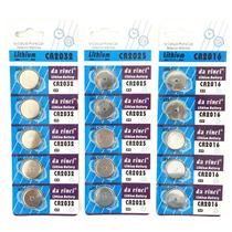 30 Bateria Relógio Controle Alarme 3v Cr2032 Cr2025 Cr2016