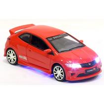 Miniatura Honda Civic Type R Vermelho Com Luz E Som