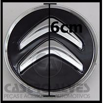 Calota Tampa Centro Roda Citroen C3 C4 Exclusive Preto =1 Pç