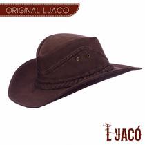 Chapeu Couro Country Texano Marron Country Feminino Lj04t22