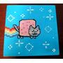 Caixinha Pintada A Mão Nyan Nyan Cat Abaixou De R$50,00