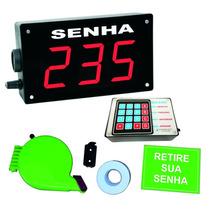 Painel De Senha + Dispenser + Rolo Duplo + Placa