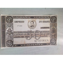 L-811 R-052 Cédula De 50 Mil Réis Do Império - Réplica 1848