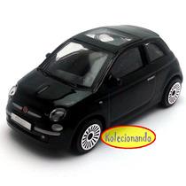 Burago 1:43 - 2007 Fiat Nuova 500 - Preto