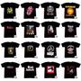 Kit 10 Camisetas Banda De Rock Algodão Com Reforço  Atacado