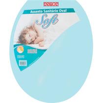 Assento Sanitário Oval Plástico Azul 1 Astra P/ Vasos Ovais