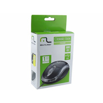 Mouse Usb Óptico Multilaser Preto Mo179 Embalagem Individual