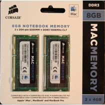 8gb Sodimm Corsair 1066 / 1067 Apple Imac Macbook / Mac Pro